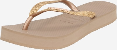HAVAIANAS Séparateur d'orteils en or / rosé, Vue avec produit