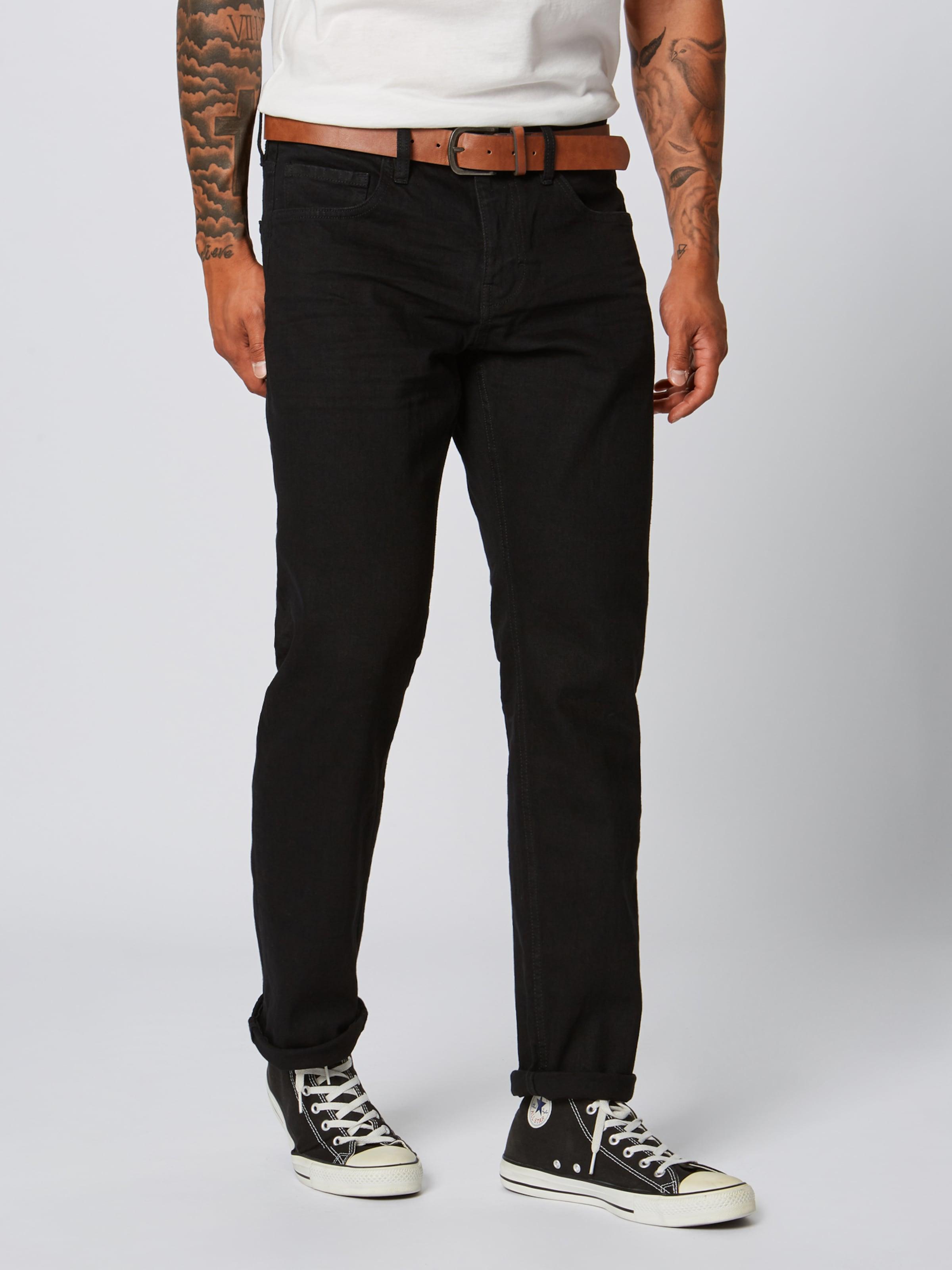 En Esprit Jean 'straight Pants' Denim Noir NOPkZw80Xn