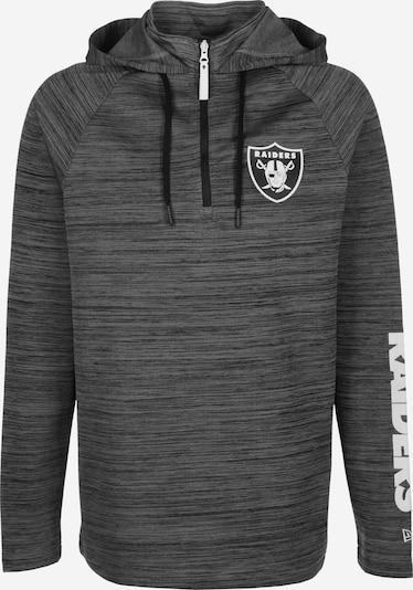 NEW ERA Sweatshirt 'NFL Engineered Half Zip Oakland Raiders' in graumeliert, Produktansicht