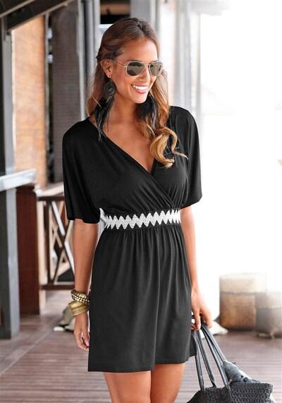 LASCANA Vêtement de plage en noir / blanc, Vue avec modèle