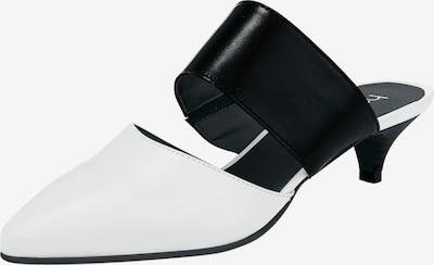 heine Slipper 'Sabot' in schwarz / weiß, Produktansicht