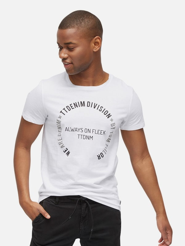 TOM TAILOR DENIM T-Shirt mit Schrift-Print