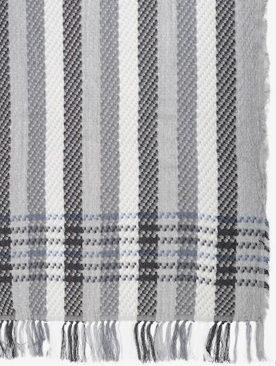 APART Schal mit karierter Strickmuster in dunkelgrau / weiß, Produktansicht