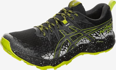 ASICS Laufschuh 'FujiTrabuco' in neongelb / schwarz, Produktansicht