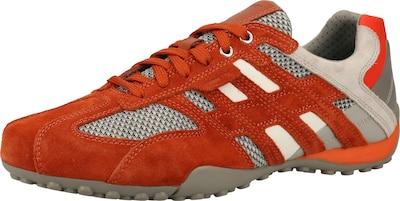 GEOX Sneaker in beige / grau / orangerot, Produktansicht
