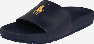 POLO RALPH LAUREN Pantolette 'CAYSON-SANDALS-CASUAL' in navy / gold, Produktansicht