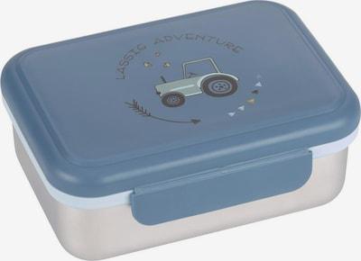 LÄSSIG Lunchbox in rauchblau / silbergrau / pastellgrün / schwarz, Produktansicht