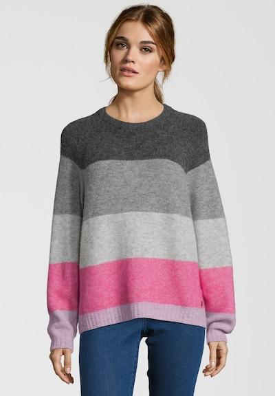 BETTER RICH Pullover 'Crew Multi Stripe' in grau / anthrazit / hellgrau / pink, Modelansicht
