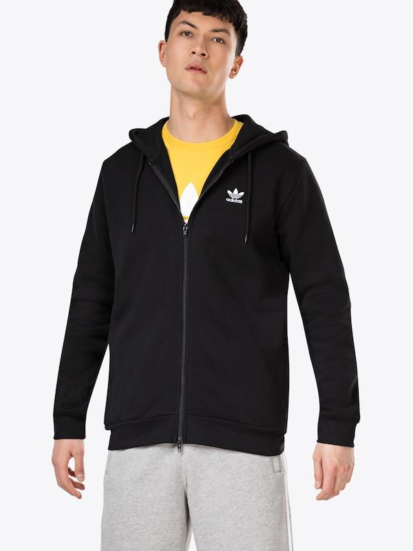 Flc Hoodie' Veste De En Originals Noir Adidas Survêtement 'trf xQEdoCBerW