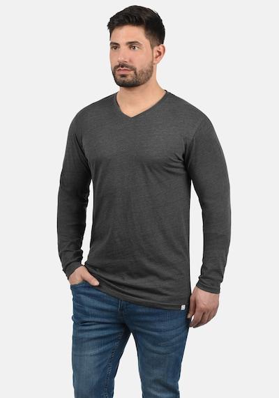 !Solid Langarmshirt 'Beda' in grau: Frontalansicht