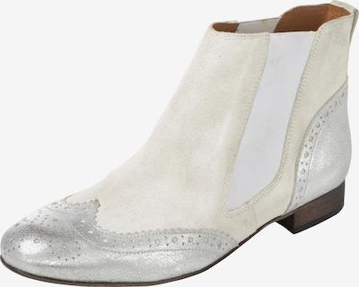 heine Stiefelette in elfenbein / silber / weiß, Produktansicht