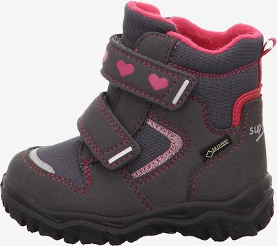 SUPERFIT Schuh in anthrazit / pink: Seitenansicht