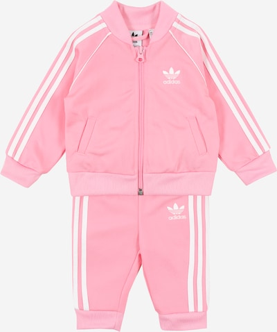 ADIDAS ORIGINALS Trainingsanzug in hellpink / weiß, Produktansicht