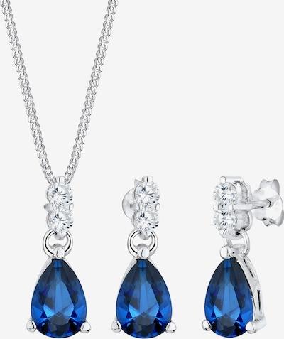 ELLI PREMIUM Parure de bijoux 'Vintage' en bleu / argent, Vue avec produit