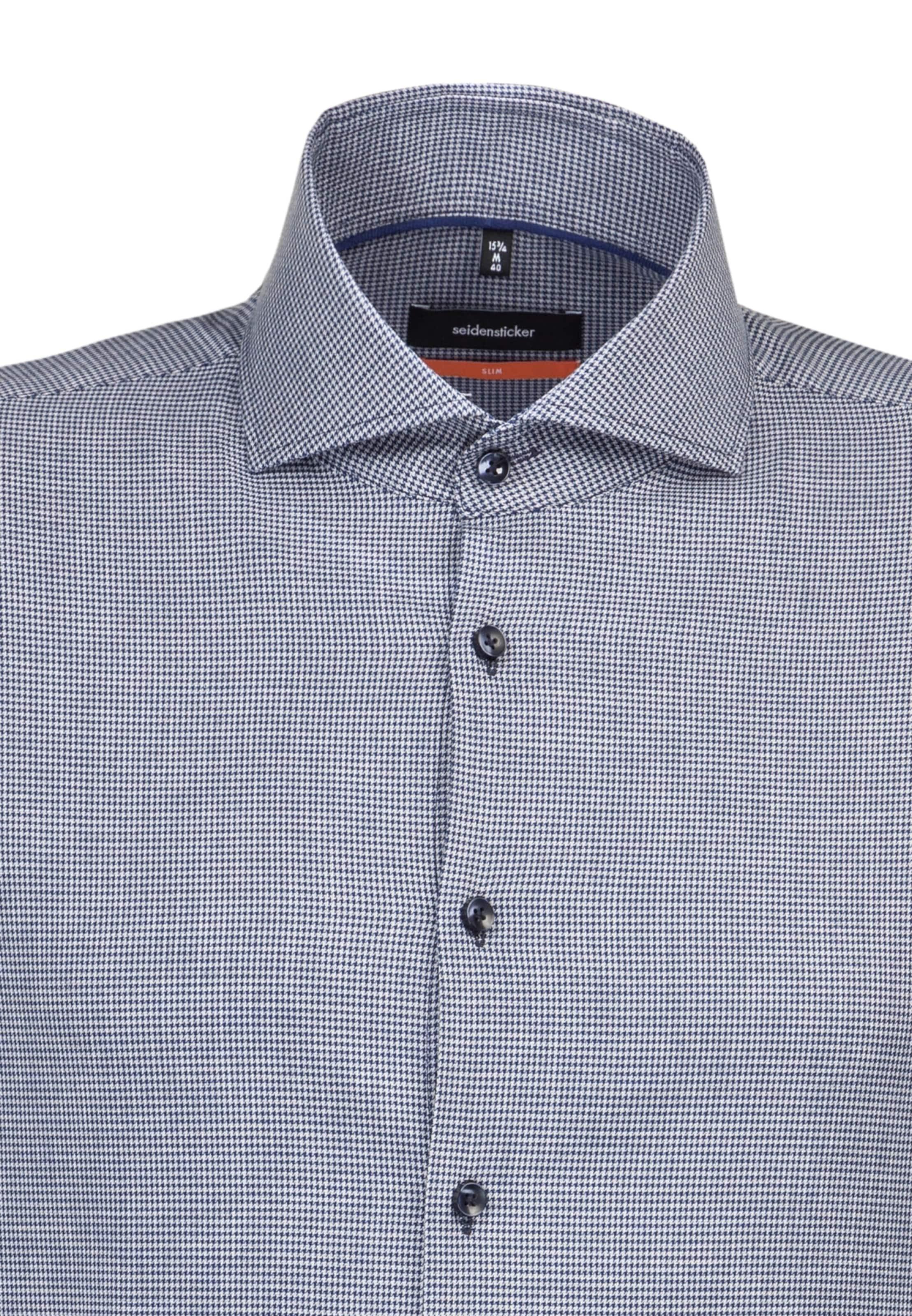 TaubenblauWeiß TaubenblauWeiß 'slim' In Seidensticker Seidensticker Hemd Hemd 'slim' In OXukZPiT