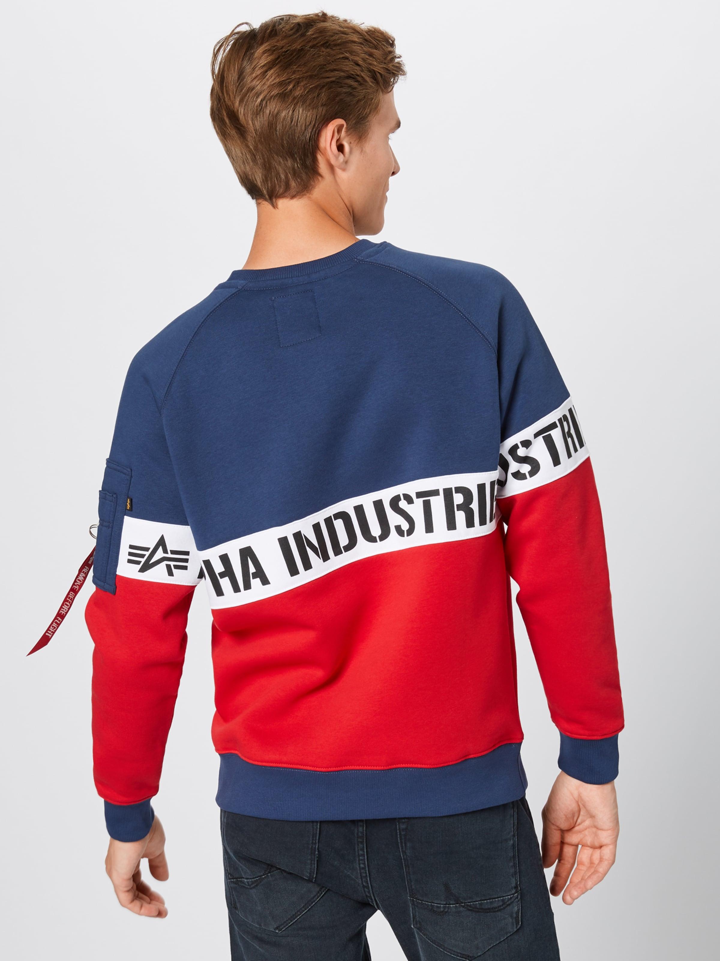 Sweatshirts In Industries Alpha Alpha NavyRot Yfg6vb7y
