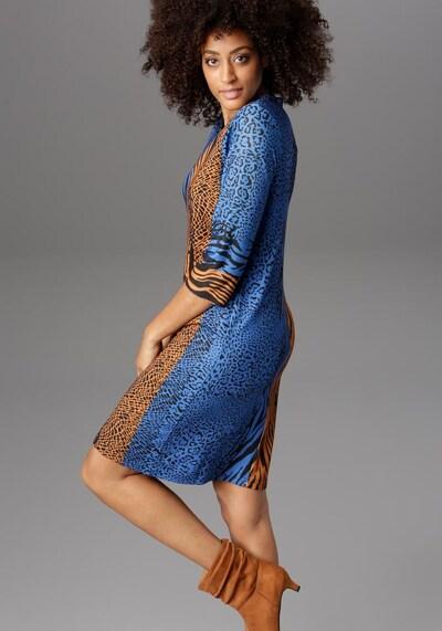 Aniston SELECTED Kleid in blau / braun / schwarz, Modelansicht