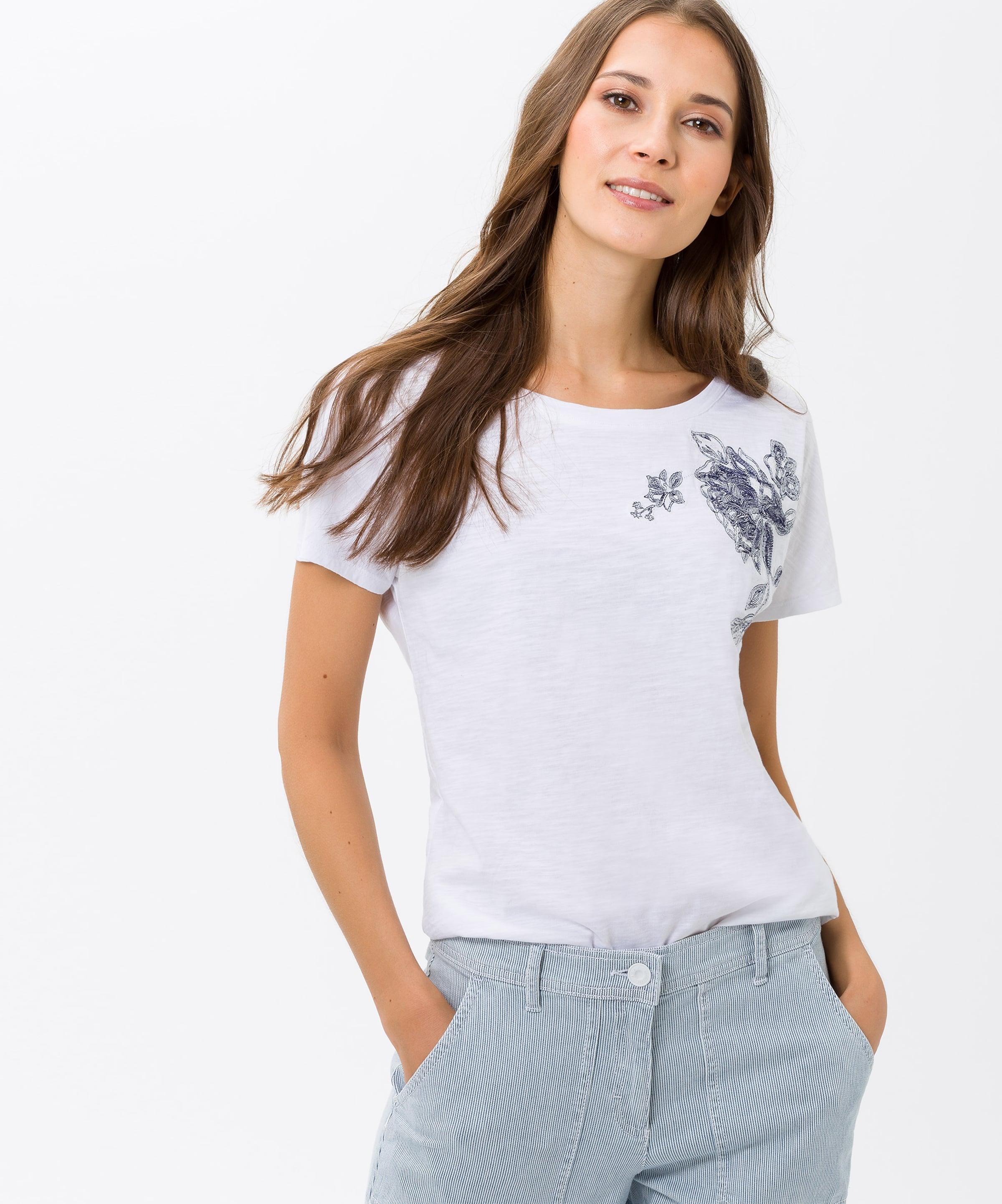 Weiß Shirt Brax 'caelen' In Brax VSzMqUp