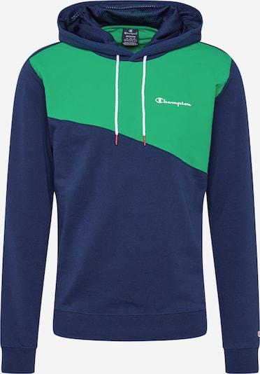 Champion Authentic Athletic Apparel Sweat-shirt en bleu marine / vert, Vue avec produit