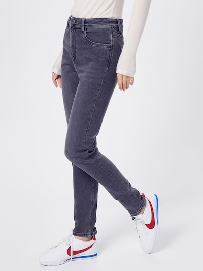 ESPRIT Jeans 'MR GIRLFRIEND' in grey denim / dunkelgrau, Modelansicht