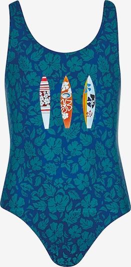 OLYMPIA Badeanzug in royalblau / pastellblau / mischfarben, Produktansicht