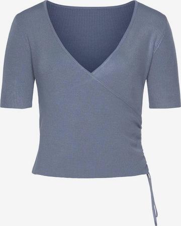 LASCANA Pullover in Blau