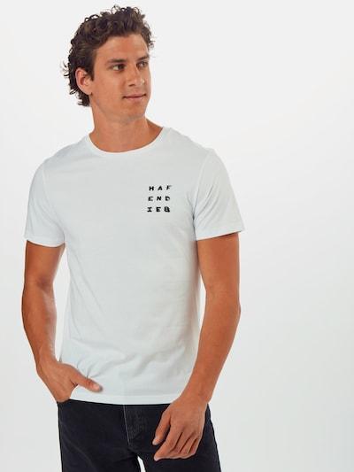 Hafendieb T-Shirt 'R E F L E K T I O N' en blanc: Vue de face