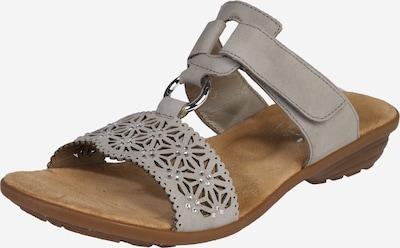 RIEKER Sandalette 'Strass' in grau: Frontalansicht