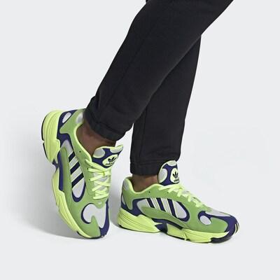 ADIDAS ORIGINALS Sneaker 'Yung-1' in navy / neongelb, Modelansicht