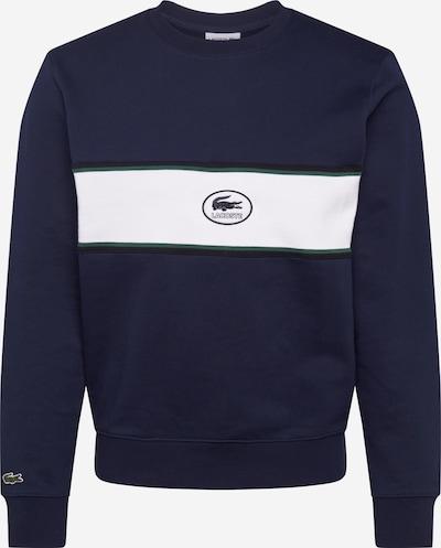 LACOSTE Sweat-shirt en marine / blanc, Vue avec produit