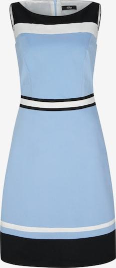 s.Oliver BLACK LABEL Kleid in blau / schwarz: Frontalansicht