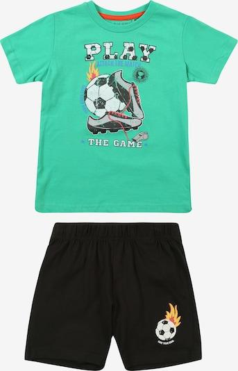 BLUE SEVEN Set 'kl Kn Set: T-Shirt + Shorts' in grün / mischfarben, Produktansicht