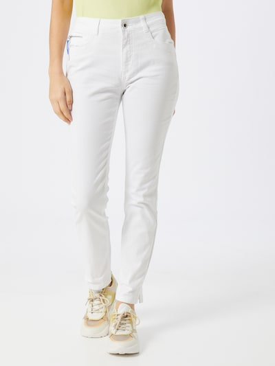TOM TAILOR Jeans 'Kate slim Denim Long 1/1' in white denim, Modelansicht