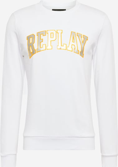 REPLAY Sweatshirt in gold / silber / weiß, Produktansicht