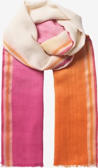 BeckSöndergaard Schal in pink / orangerot / weiß: Frontalansicht