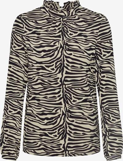 SOAKED IN LUXURY Koszulka 'Drop Print Tee LS' w kolorze khaki / czarnym: Widok z przodu