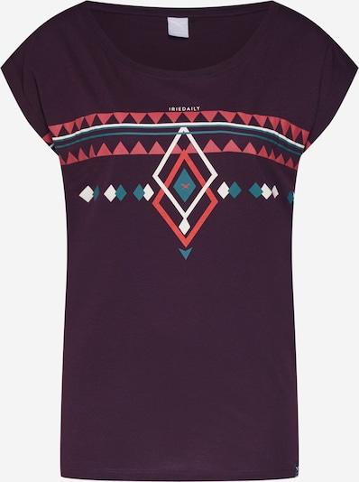 Iriedaily Majica 'Hopi Tee' u tirkiz / patlidžan / vatreno crvena, Pregled proizvoda