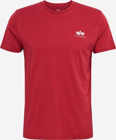 ALPHA INDUSTRIES Shirt 'Small Logo' in rot, Produktansicht