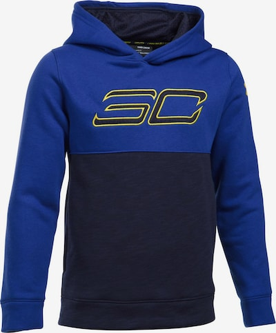 UNDER ARMOUR Sweatshirt in royalblau / dunkelblau / gelb, Produktansicht