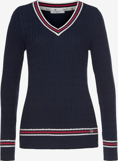 Tom Tailor Polo Team Pullover in navy / rot / weiß, Produktansicht