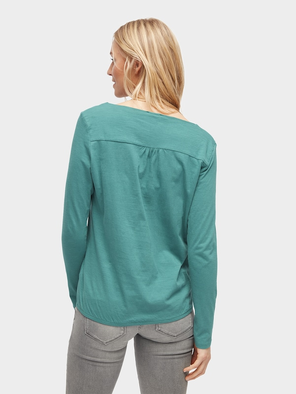 TOM TAILOR T-Shirt-Bluse mit elastischem Bund