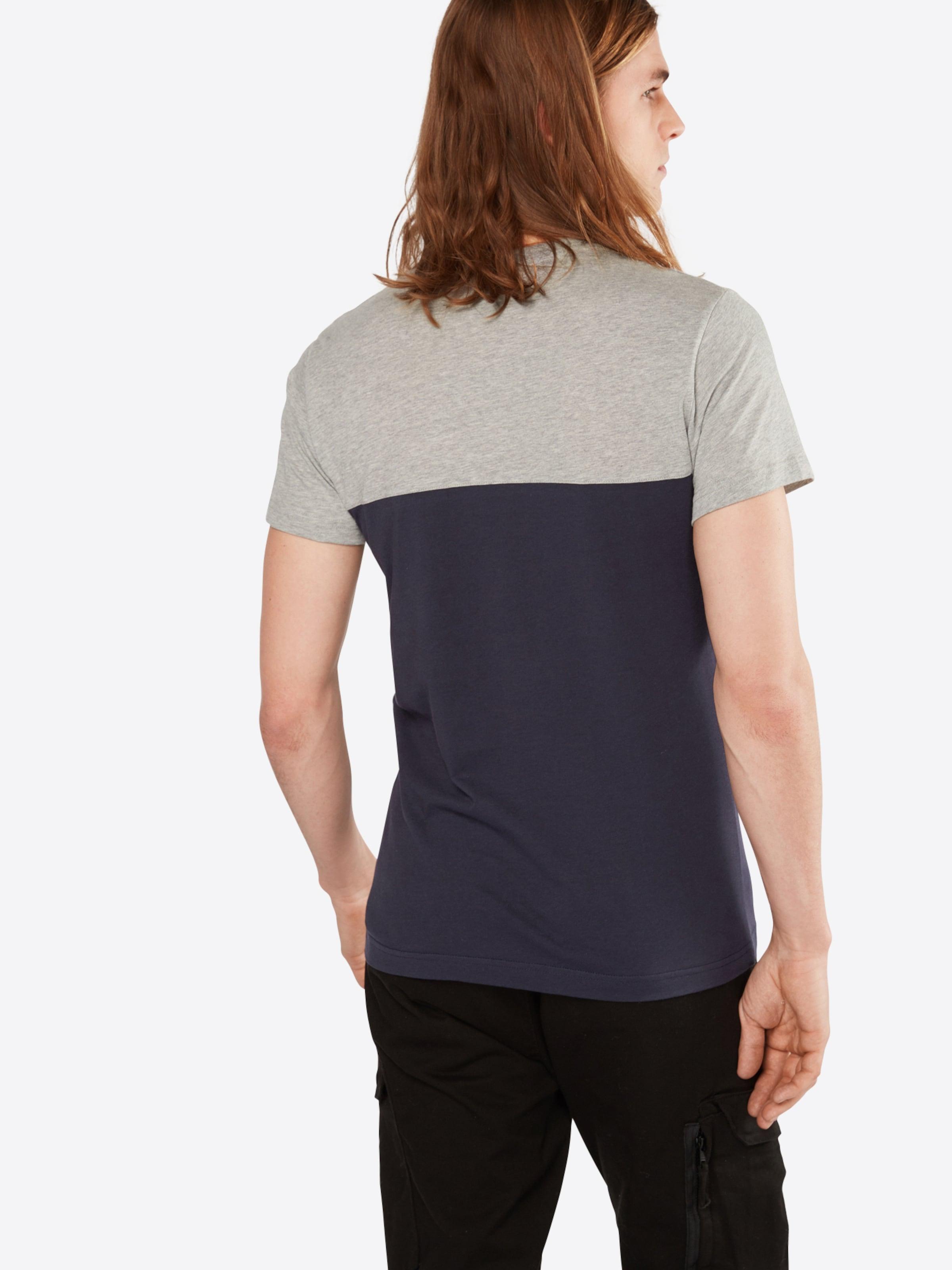 Iriedaily Tee' T shirt Pocket 'block 2 Rouge En BleuGris Chiné CrdxBoeW