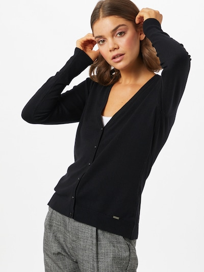 MORE & MORE Strickjacke in schwarz, Modelansicht