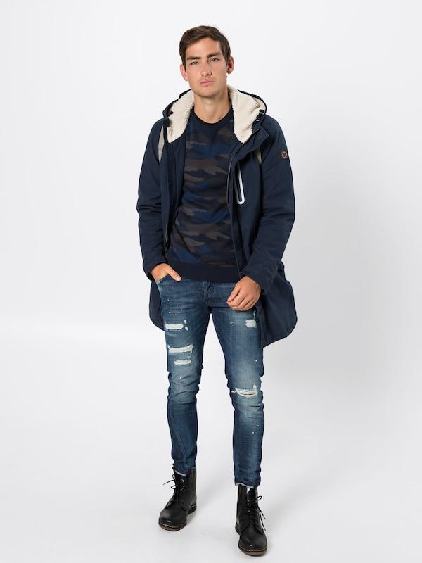 Winterparka 'cavalry' Jeans Pepe Donkerblauw In Yb6gvfy7I