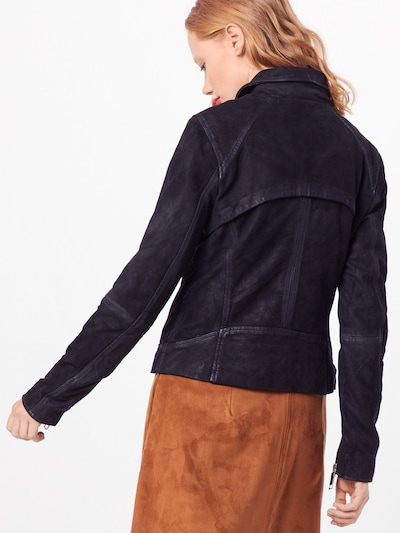 Maze Lederjacke 'Romie' in schwarz: Rückansicht
