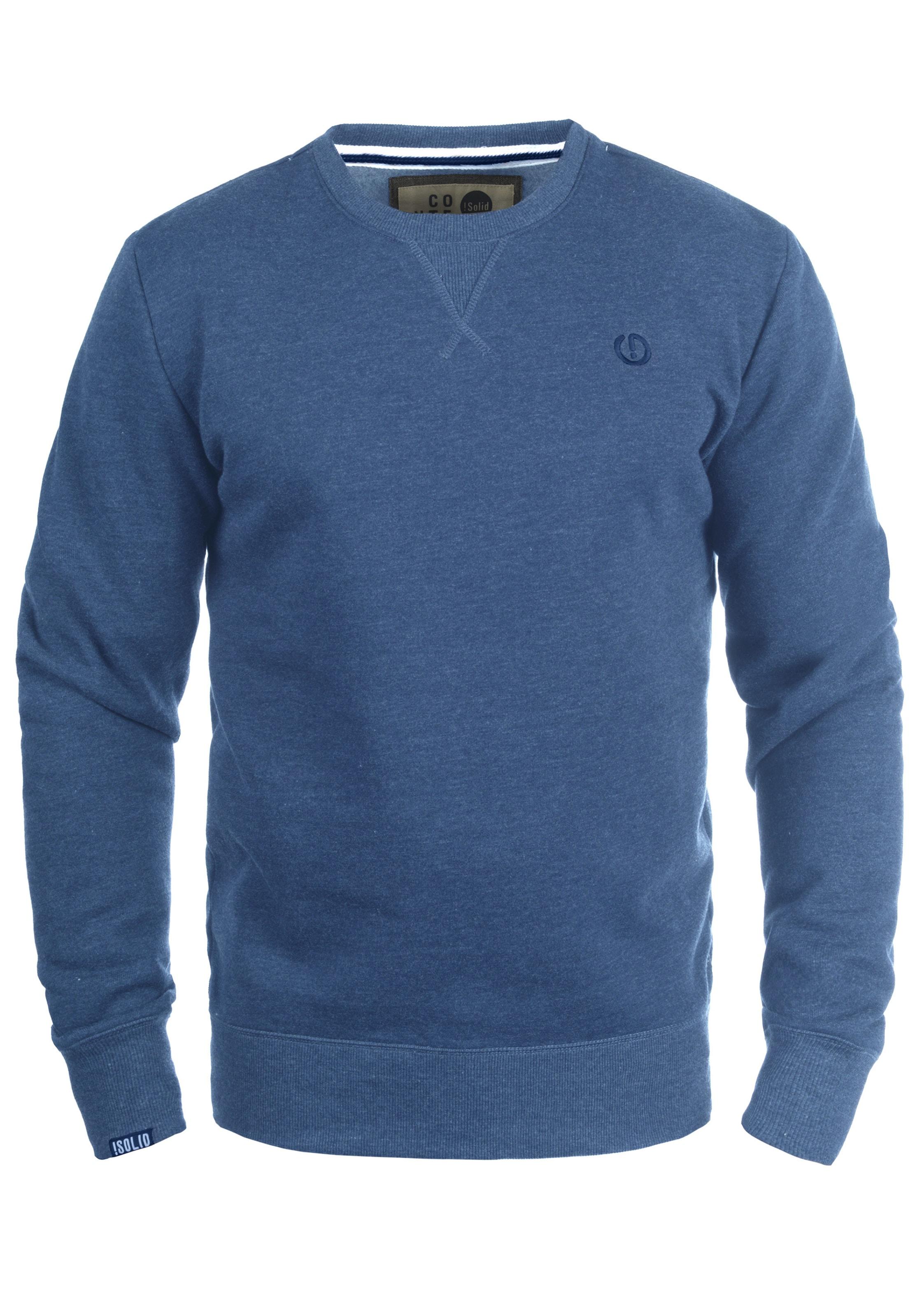 'benn In Blau Sweatshirt O neck' solid iXOlPkuTZw