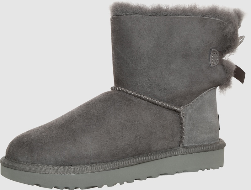 ugg boots mit fell f tterung 39 mini bailey bow ii 39 in grau about you. Black Bedroom Furniture Sets. Home Design Ideas