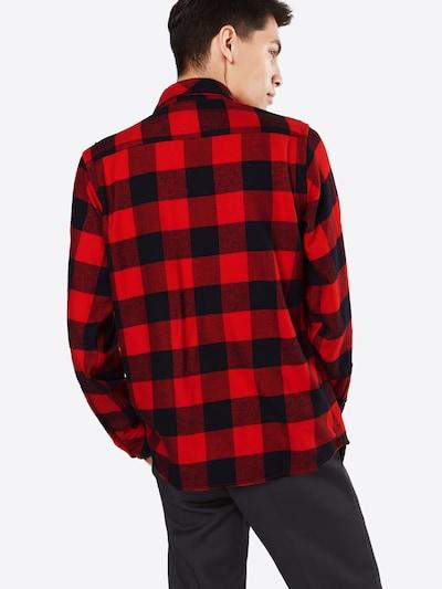 DICKIES Košeľa 'Sacramento' - červená / čierna: Pohľad zozadu