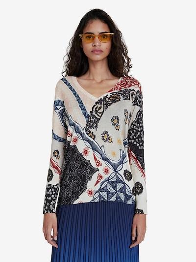 Desigual Pullover 'Bergen' in creme / mischfarben, Modelansicht