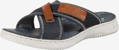 RIEKER Pantolette in chamois / marine, Produktansicht